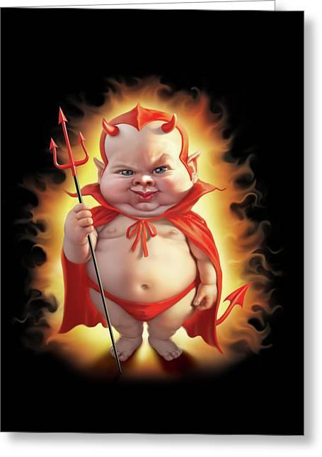 Bad Baby Greeting Card