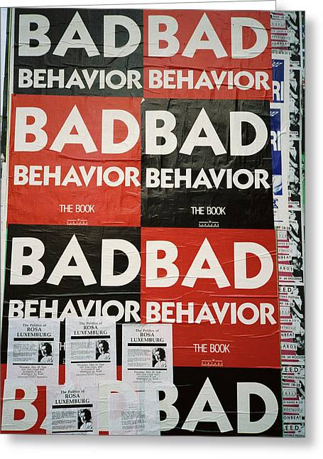 Bad Behavior Greeting Card