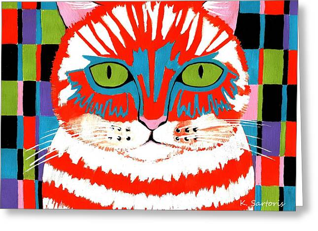 Bad Cattitude Greeting Card