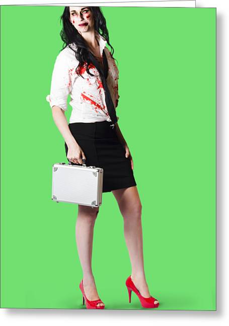 Bad Day At The Office Greeting Card by Jorgo Photography - Wall Art Gallery