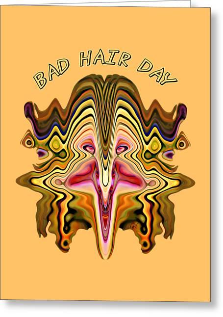 Bad Hair Day Greeting Card