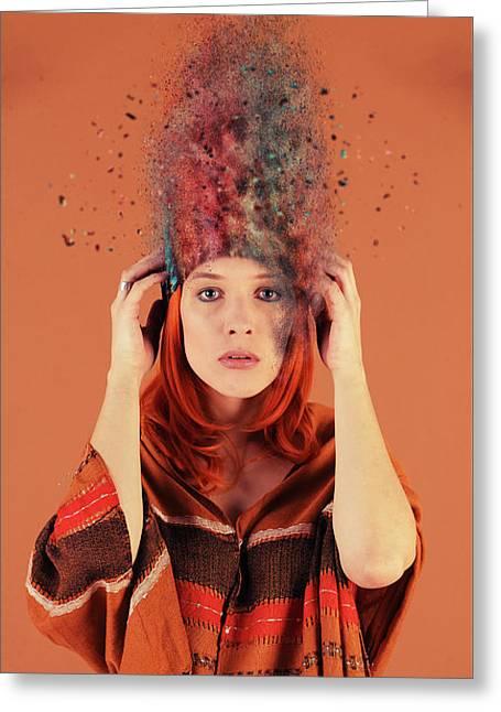 Bad Hair Day Greeting Card by Nichola Denny