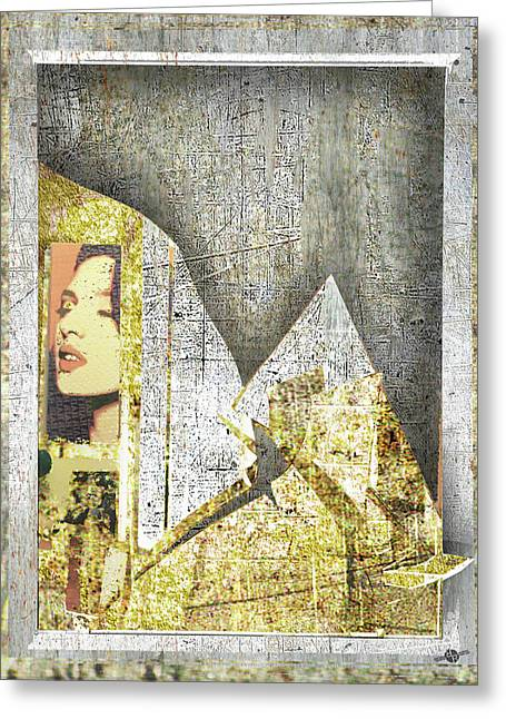 Greeting Card featuring the mixed media Bad Luck by Tony Rubino