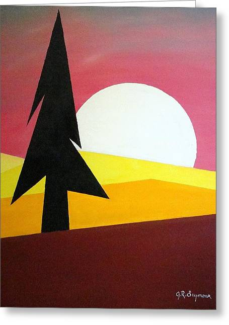 Greeting Card featuring the painting Bad Moon Rising by J R Seymour