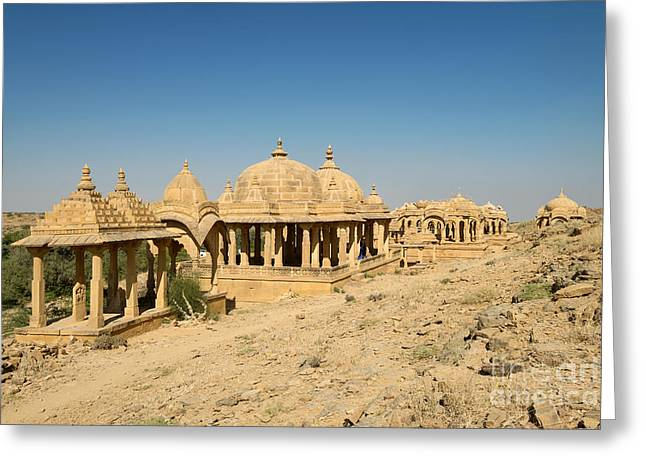 Greeting Card featuring the photograph Bada Bagh Of Jaisalmer by Yew Kwang
