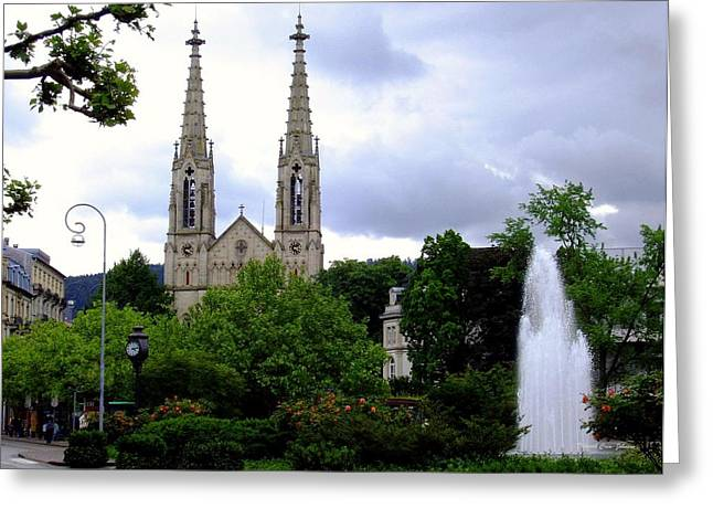 Baden - Baden Greeting Card by Deborah  Crew-Johnson