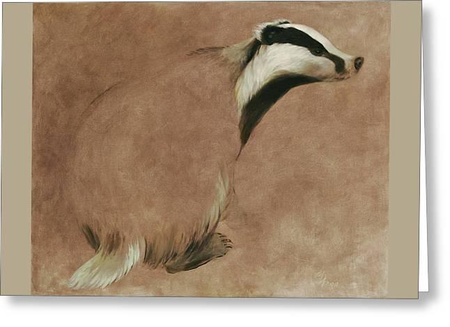 Badger Greeting Card