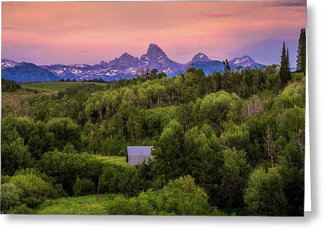 Badger Creek Sunset Greeting Card