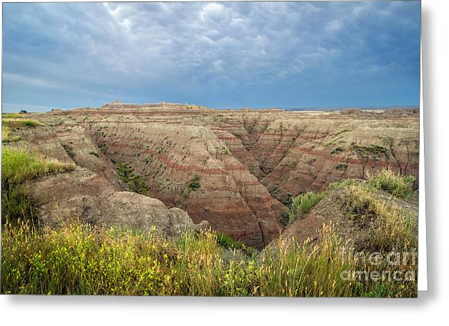 Badland Ravine Greeting Card