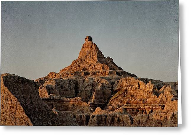 Greeting Card featuring the digital art Badlands At Sunrise by Christopher Meade