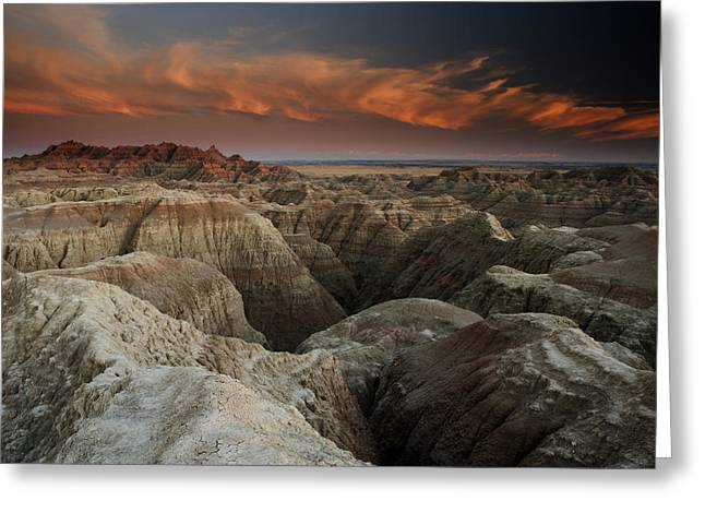 Badlands Greeting Card by Eric Foltz