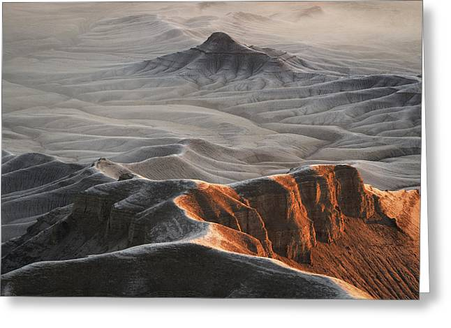 Badlands Fog Greeting Card