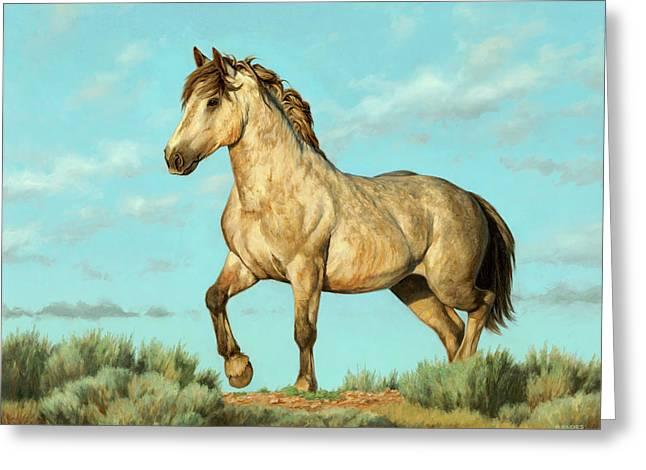 Badlands Mustang Greeting Card