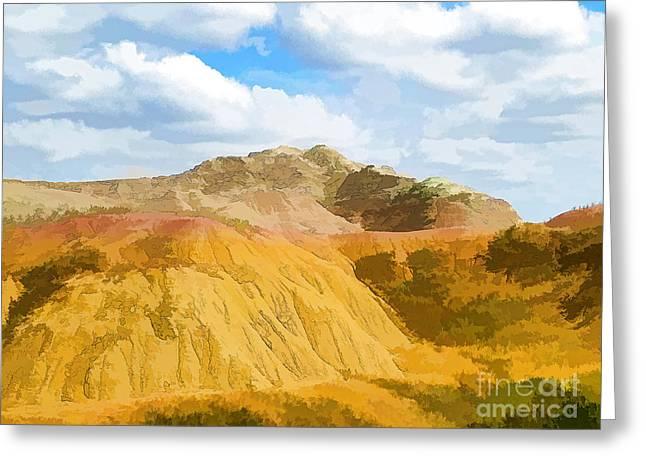 Badlands National Park Abstract Greeting Card
