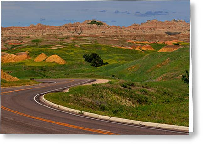 Badlands National Park Scenic Drive Greeting Card by Adam Jewell