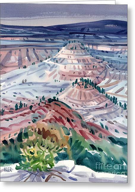 Badlands Of South Dakota Greeting Card by Donald Maier