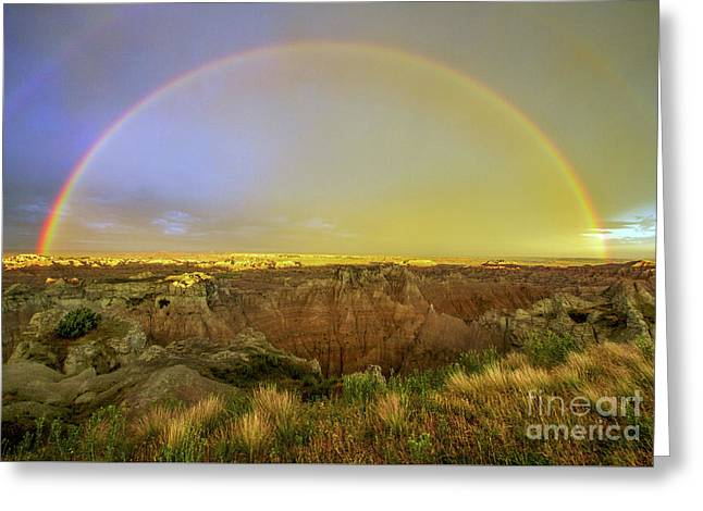 Badlands Rainbow Promise Greeting Card