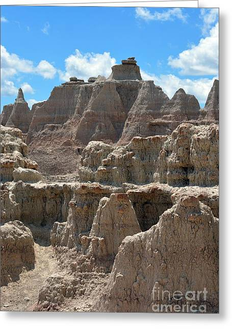 Badlands Sd #145 Greeting Card by Chalet Roome-Rigdon