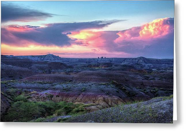 Badlands Sunrise Greeting Card