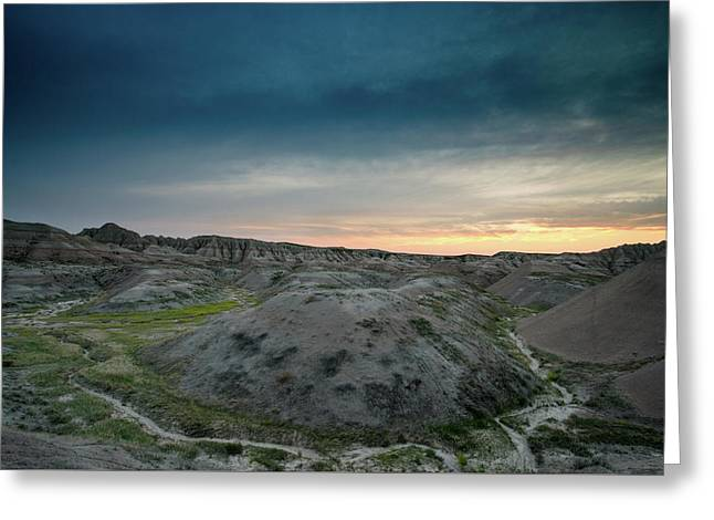 Badlands Sunset Greeting Card