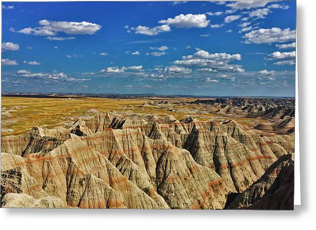 Badlands To Plains Greeting Card