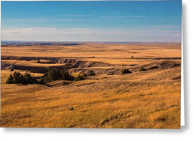 Badlands Vi Panoramic Greeting Card
