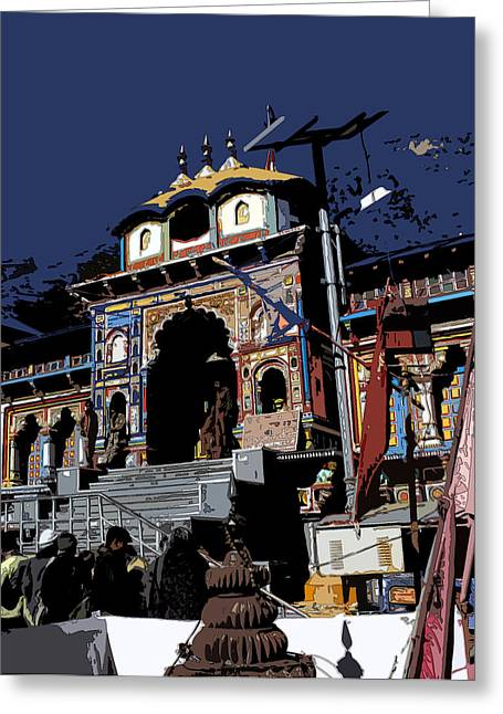 Badrinath Temple 1 Greeting Card