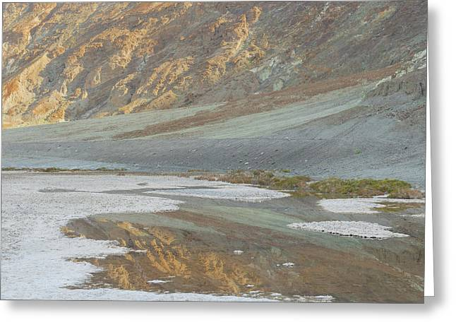 Badwater Abstract Greeting Card