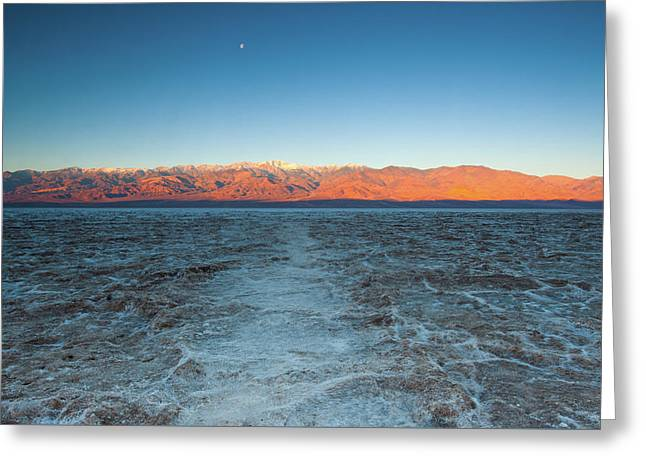 Greeting Card featuring the photograph Badwater  by Catherine Lau