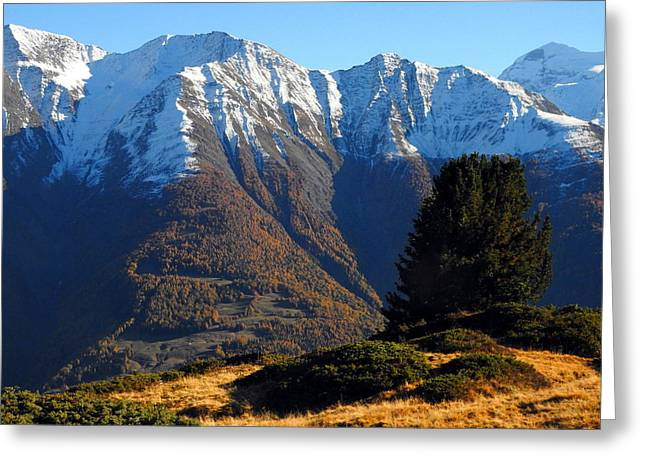 Baettlihorn In Valais, Switzerland Greeting Card