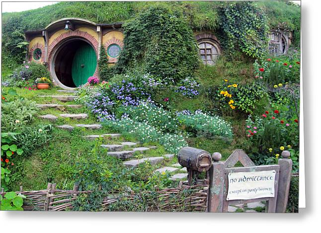 Bag End Greeting Card by Anthony Forster