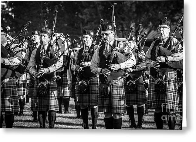 Bagpipe Band - Scottish Festival And Highland Games Greeting Card