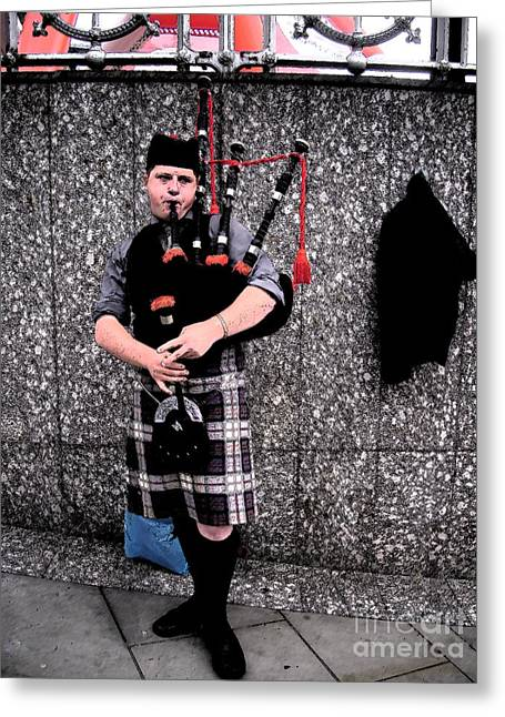 Greeting Card featuring the photograph Bagpipe by Janelle Dey