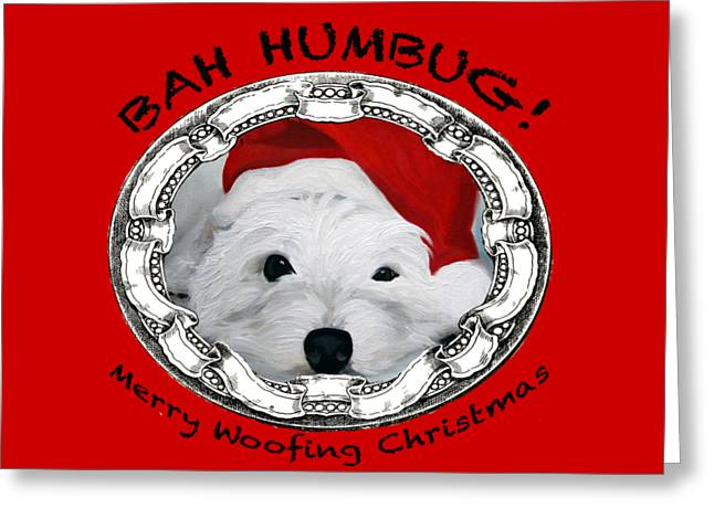 Bah Humbug Merry Woofing Christmas Greeting Card