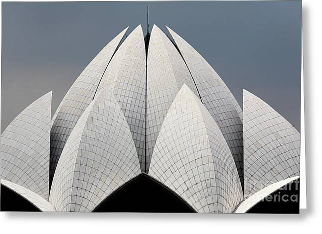 Bahai Temple Delhi India Greeting Card