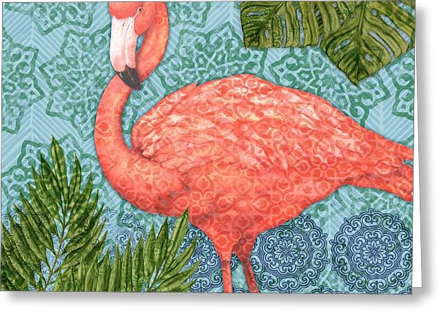 Bahama Flamingo II Greeting Card by Paul Brent