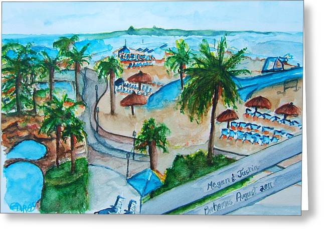 Bahamas Balcony Greeting Card