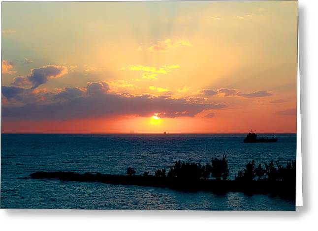 Bahamas Sunset Greeting Card