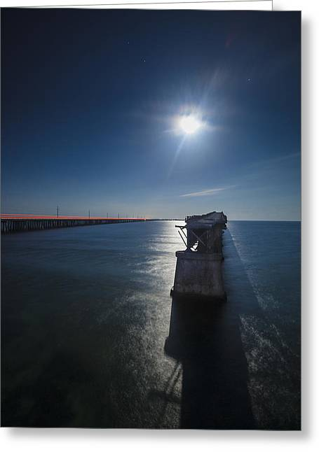 Bahia Honda By The Moonlight Greeting Card by Dan Vidal