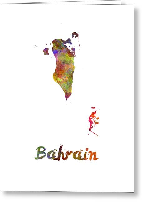 Bahrain  In Watercolor Greeting Card by Pablo Romero