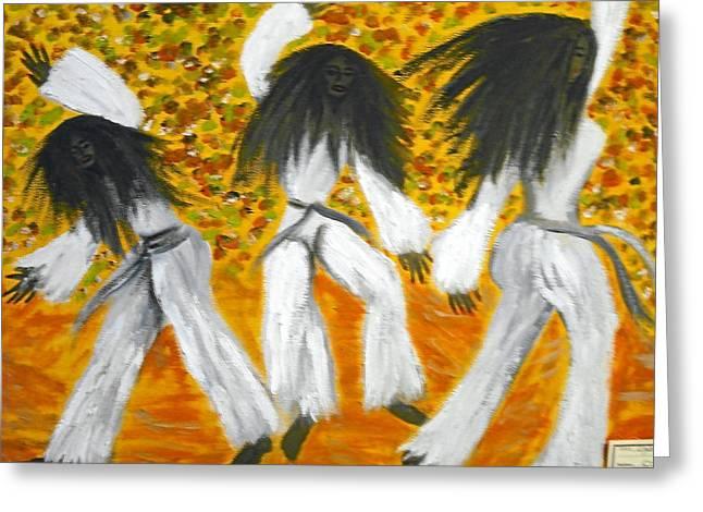 Bailar N Los Blanco  Greeting Card by BJ Abrams