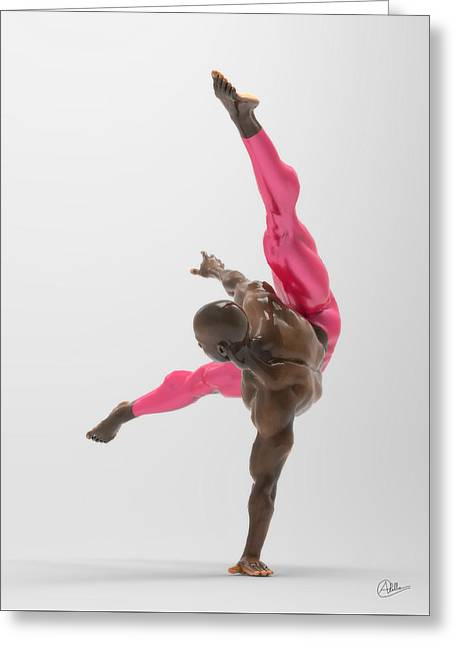 Bailarin Acrobata Greeting Card