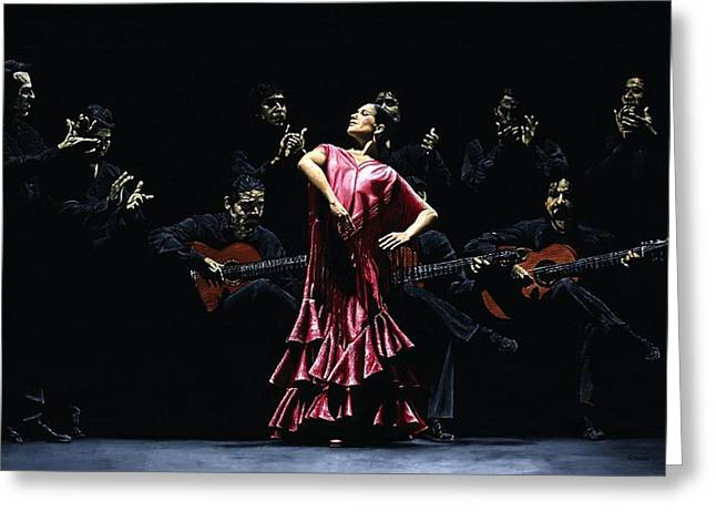 Bailarina Orgullosa Del Flamenco Greeting Card by Richard Young