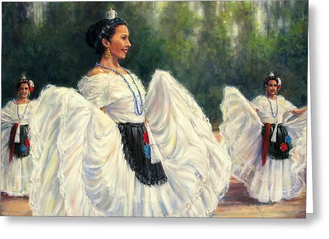 Baile De Las Velas - Candle Dance Greeting Card by Vickie Fears