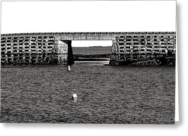 Bailey Island Bridge Greeting Card by Olivier Le Queinec