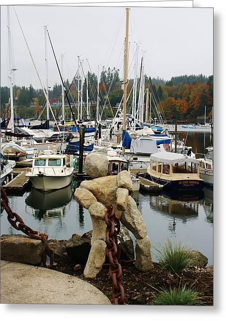 Greeting Card featuring the photograph Bainbridge Harbor by Bruce Bley