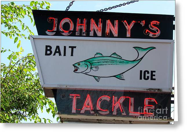 Bait And Tackle Greeting Card