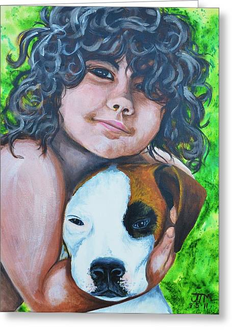 Recently Sold -  - First Love Greeting Cards - Baiya and Moja Greeting Card by Jonelle T McCoy