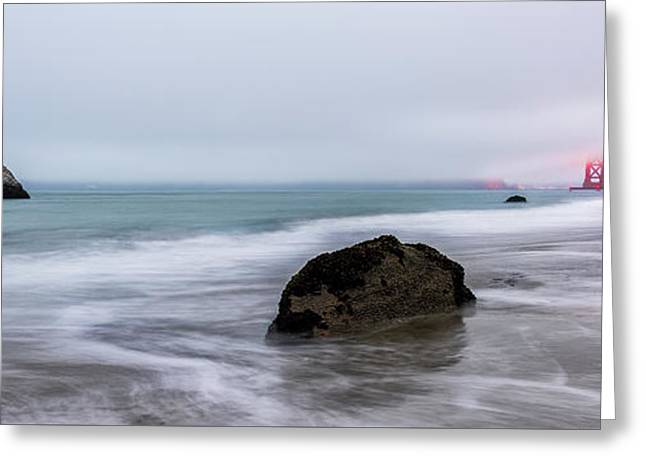 Baker Beach Obscured Greeting Card by Jon Glaser