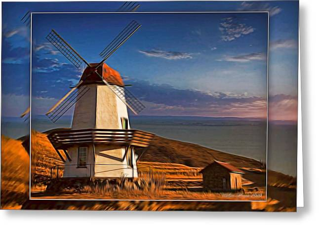 Baker City Windmill_1a Greeting Card